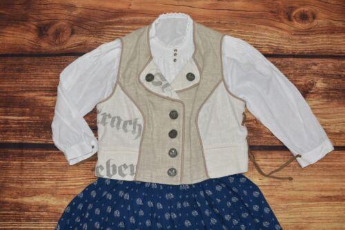 Linen Trachten slip blouse Bavarian Oktoberfest Dirndl blouse Size L/XL