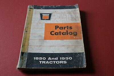 Oliver Models 1850 And 1950 Tractors Parts Catalog Listmanual
