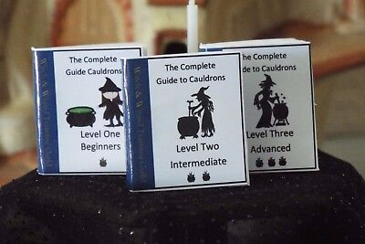 Mini HALLOWEEN  Witches & Wizards Cauldron Guide Book  Dollhouse  1:12 scale](Mini Halloween Cauldrons)