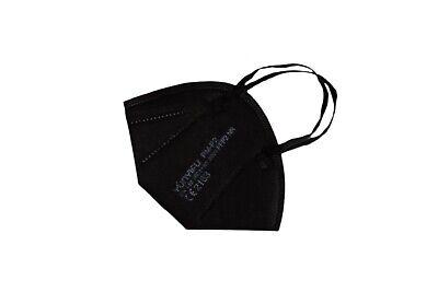 5 Stück • FFP2-Maske SCHWARZ (bunt) • mit Schaumstoff-Nasenauflage • PREMIUM
