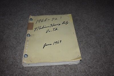 1969 Dodge medium & heavy duty truck factory parts manual text only ()