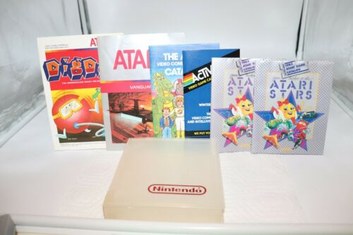 Assorted Atari Game Pamphlets Lot
