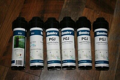 6X Hunter PGJ-04 Gear-Drive Rotor Sprinkler Heads  2 GPM Nozzle PGJ With Key