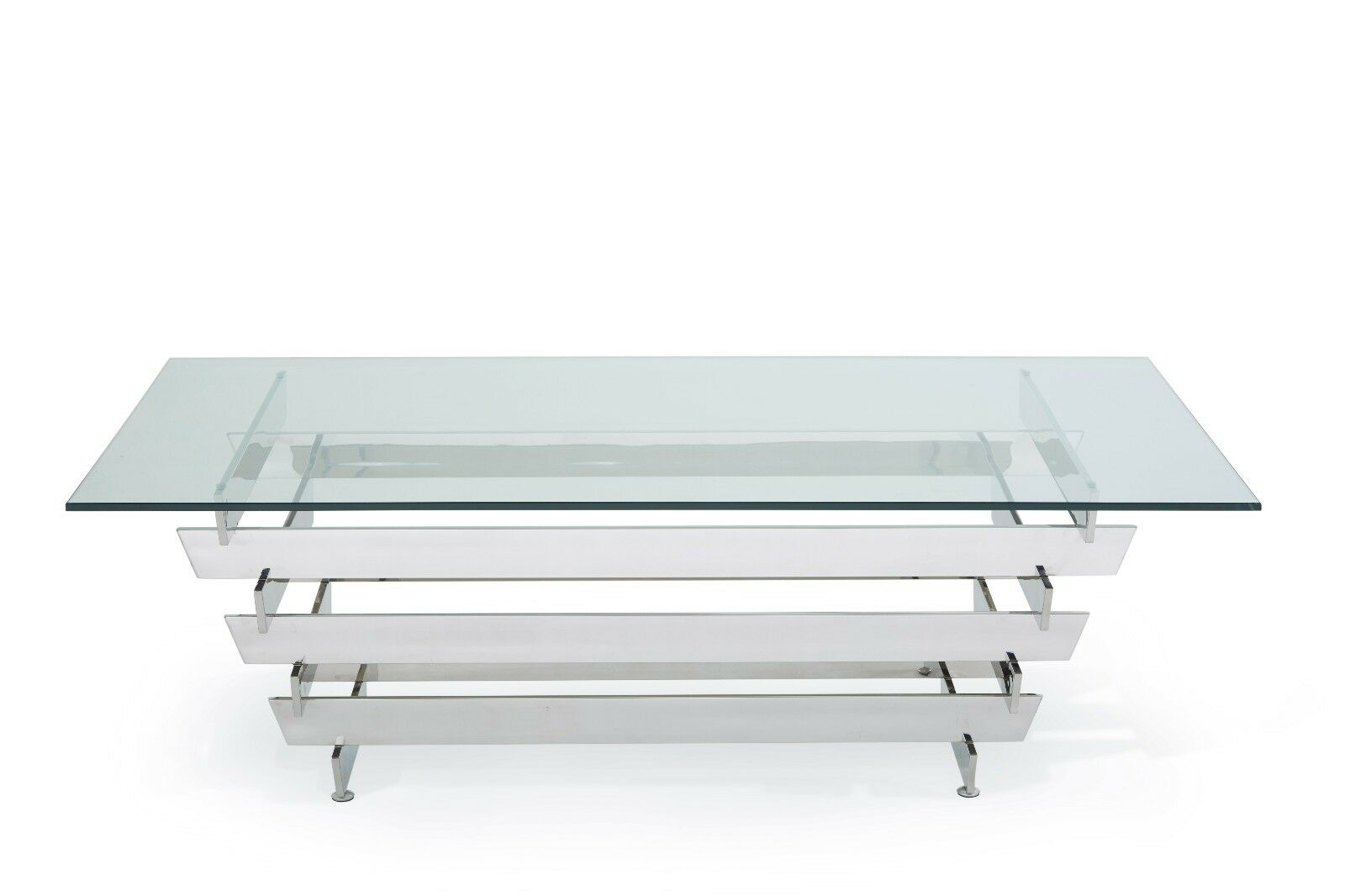 Kyoto modern coffee table rectangle design thick glass stainless kyoto modern coffee table rectangle design thick glass stainless steel frame geotapseo Images