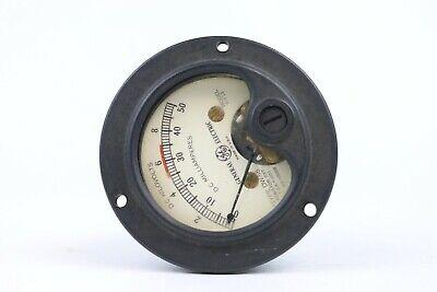 Vintage Ge Panel Meter Dc Kilovolts Milliamperes 0-10 0-50 Dw-55