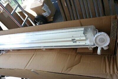 Vapor Tight Light Damp Location- 4 Two Bulb T8 Fluorescent Light Fixture W Os