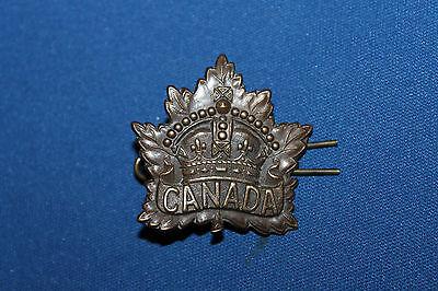 "Original WW1 Canadian Army ""Canada"" General List Metal Cap Badge"