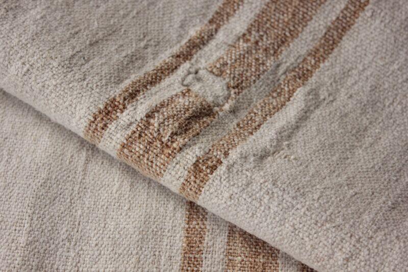 Grainsack caramel linen European feedbag PRIMITIVE patched timeworn textile