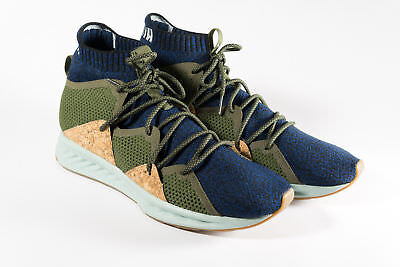 NEW Puma IGNITE Wave evoKNIT Training Shoes Navy Blue Green Cork Mens Size 11 (Blue Green New Wave)