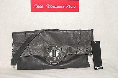 DAISY FUENTES ~ ))) NEW ((( Black Ample Envelope Clutch & Shoulder Bag $ 49.00 for sale  Coleharbor