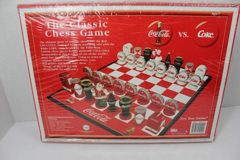 New Coke vs Coca Cola Chess Set Collectors Edition Board Game Santa Polar Bear