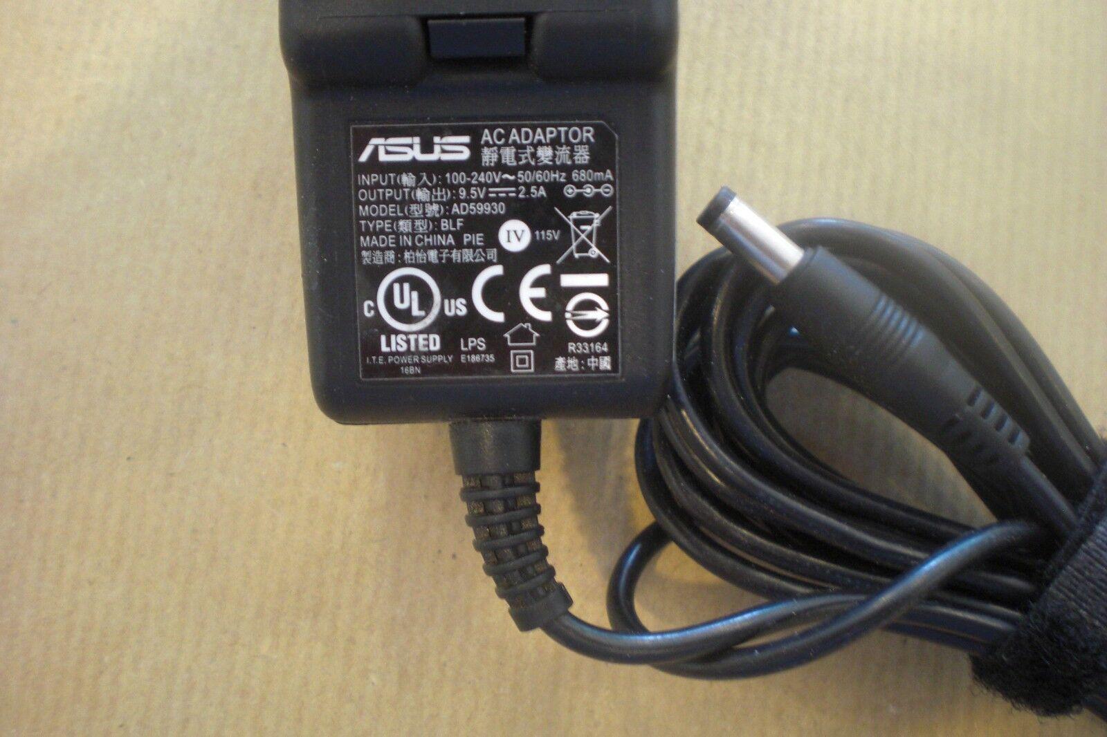 Asus AC Adapter 9.5V 2.5A Modell: AD59930 ASUS NETBOOK LADEGERÄT             #71