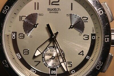 Vintage Men's Swatch Chronograph Watch Works