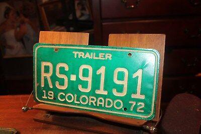 1972 Colorado License Plate Trailer RS-9191