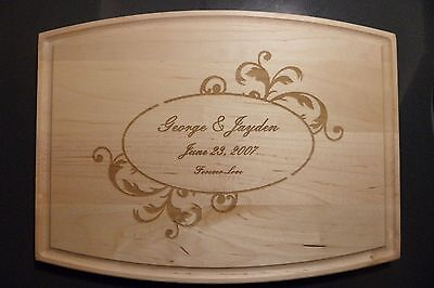 Personalized Maple Cutting Board For Weddings Christmas Anniversay Gifts  - Personalized Gifts For Christmas