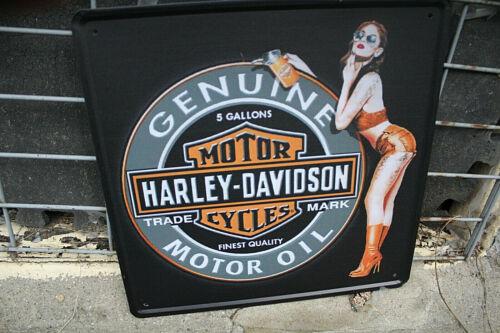 Harley-Davidson Tin Sign, 12 x 12 inches