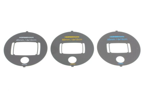 [UNUSED SET of 3] Horseman SW612 VF View Finder Mask 45mm 55mm 65mm from Japan
