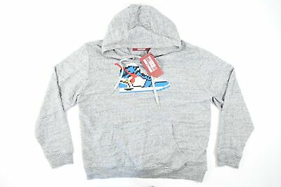 MOSTLY HEARD RARELY SEEN 8-BIT SHOE 2XL TRUE BLUE HOODIE PULLOVER SWEATER NWT