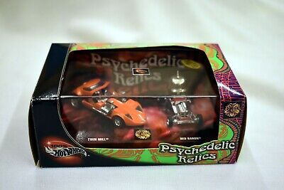 Hot Wheels PSYCHEDELIC RELICS Limited Edition (2) Car Set TWIN MILL / RED BARON