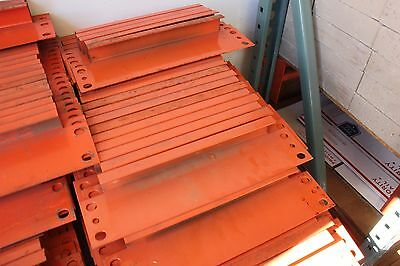 100 Pallet Rack 12 Row Spacers - Orange Color - In Used Condition