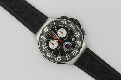 Tag Heuer CAC1110.BT0714 Formula 1 One Black Rubber Chronograph Watch Mens F1 comprar usado  Enviando para Brazil