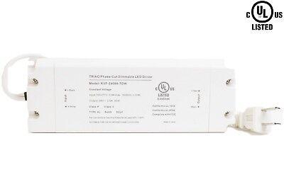Ledupdates 24v 60w Triac Dimmable Power Supply 2.5a Ul Listed For Led Light