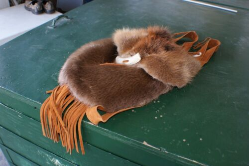 Beaver possibles bag rendezvous pow wow purse beautifully furred hand sewn 12x13