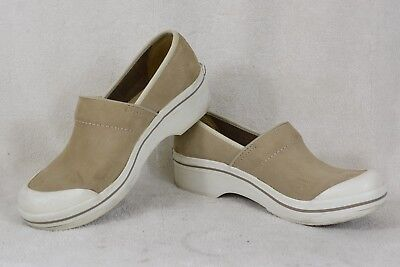 Nubuck Casual Clogs (DANSKO Volley Beige Nubuck Leather Casual Clogs Women's US Shoe Size 8.5 Y26)