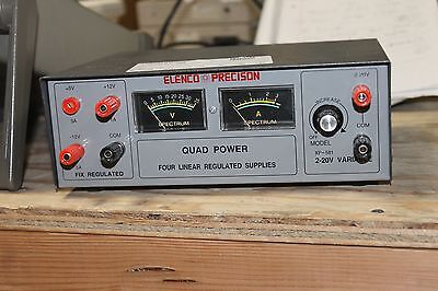 Elenco Precision Quad Power Four Linear Regulated Power Supply
