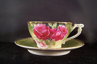 Antique PT Germany Rose Teacup Cup and Saucer Set