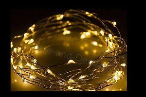 Led lichterkette drahtlichterkette leuchtdraht deko micro draht 10 20 40 80 100 ebay - Led draht lichterkette ...