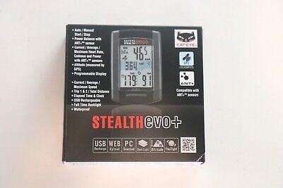 New Cateye Stealth Evo Plus GPS Cycling Computer CC-GL51 ANT + USB Strava Bike
