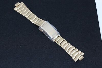 Seiko Gold Plated Bracelet - NOS Genuine Gold Color / Plated Seiko Bracelet 23 & 9.9 mm Full Size Band Strap