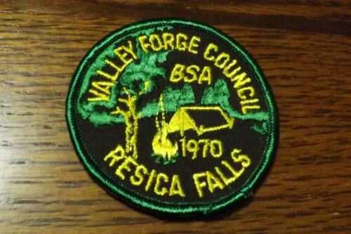 BOY SCOUT PATCH 1970 VALLEY FORGE COUNCIL RESICA FALLS