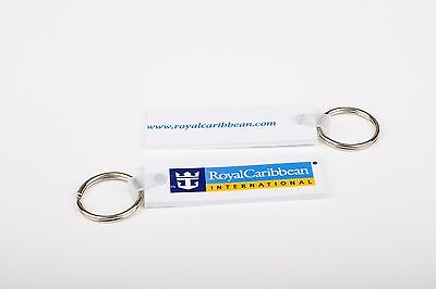 Two New Royal Caribbean International With Logo Flexible Key Chains   Rings