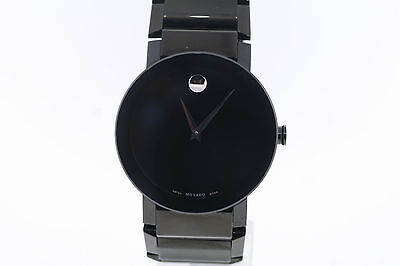 Men's Movado 0606307 SAPPHIRE Black PVD Stainless Steel Black Dial Watch