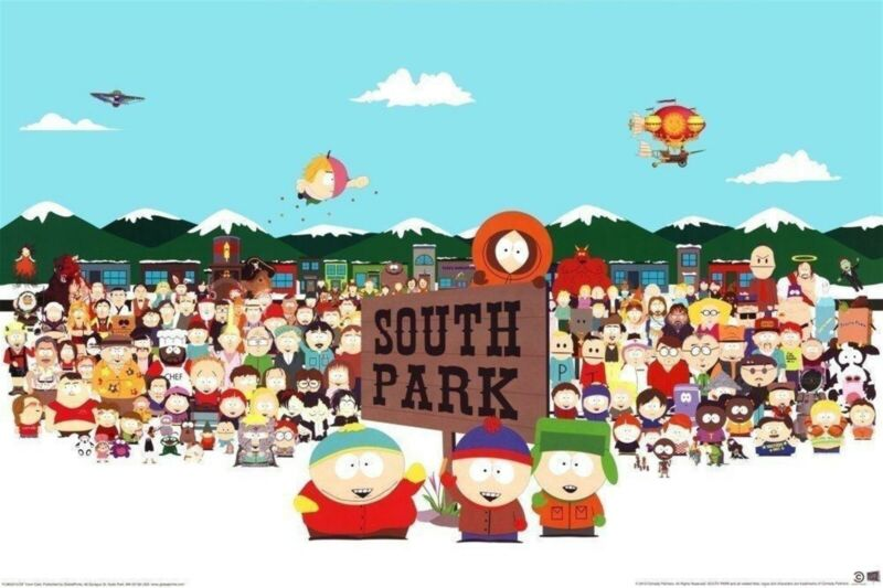 South Park Poster Cast Shot All Characters Southpark