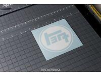 Toyota TEQ Sticker Car Vinyl Decals 75mm x2 JDM Drift Tuning