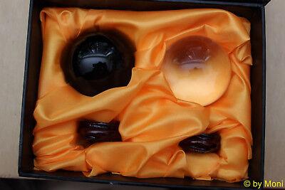 Kristallglaskugeln Ying und Yang in der Box