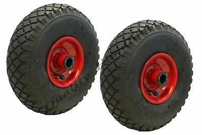 4 Pneumatische Räder (5.1-25.4cm 260x85mm Stahl Gepumpt Pneumatisch Räder, 20mm Rollenlager Heavy Duty)