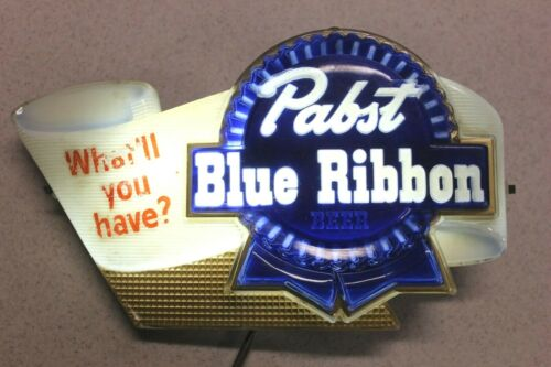 "Pabst Blue Ribbon Lighted Beer Sign ""What"