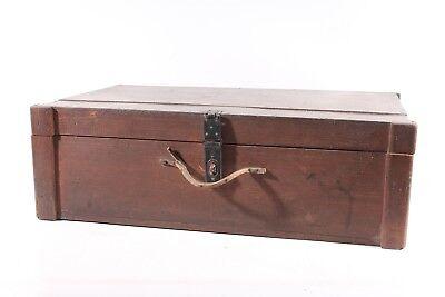 Antiguo Caja de Madera Maleta Transporte Vintage Arcón
