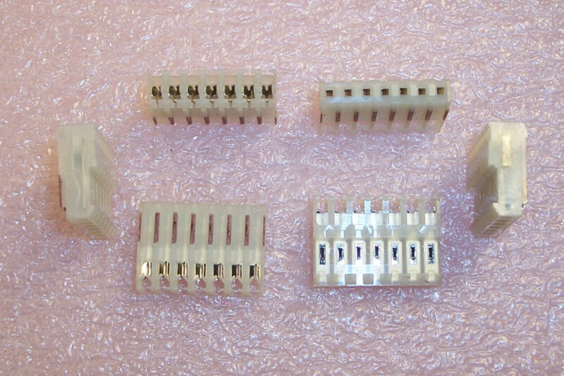 """QTY (20)  640441-8 AMP 8 POSITION MTA-100 IDC CONNECTORS 24AWG .100"""" PITCH"""