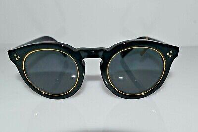 New Authentic illesteva Black Gold Leonard 2 Ring 02 50-23-140 Sunglasses