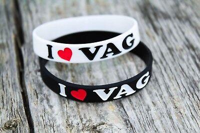 (I love VAG silicone wristband bracelet for volkswagen Audi scania german cars )