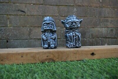 Star Wars Yoda & Darth Vader Reconstituted Stone Garden Ornaments-Free UK P&P