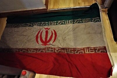 UNIQUE IRAN IRANIAN FLAG & Brass Presented to the SAS by Phil Sidey