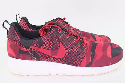 Nike Roshe One Print Men Size 7.5 Daring Red New Rare Authentic Comfortable Run