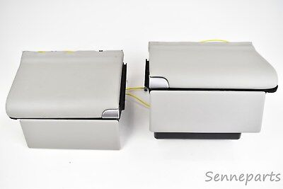 Mercedes Benz R230 SL Fond Ablage Fach Box Verkleidung Hinten Leder Set grau