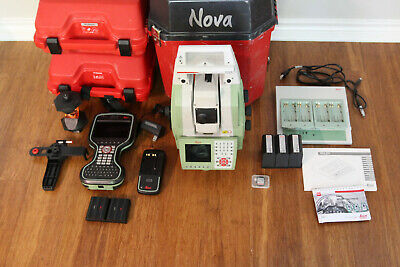Leica Ms50 1 R2000 Nova Robotic Scanning Total Station Kit Cs20 Data Collector